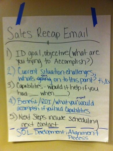 Elements of a Sales Recap Email